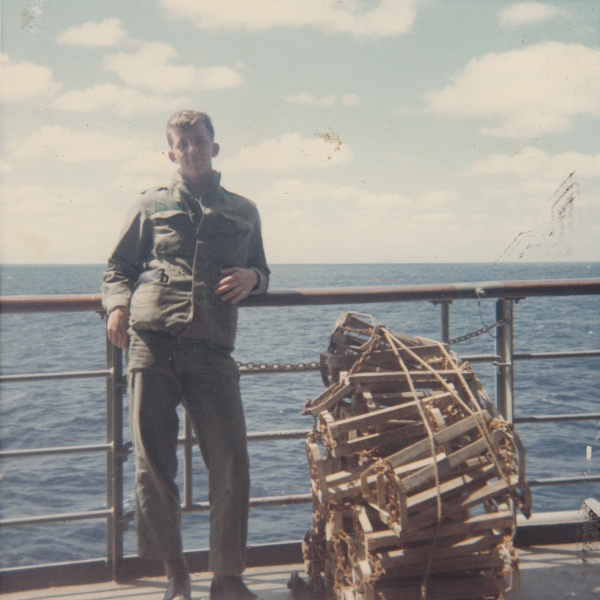 Army Specialist 4th Class Jim Hardy, aboard the Walker