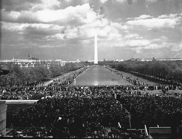 Marian Anderson Sings at Lincoln Memorial: 1939 # 3 (Image courtesy Smithsonian Institution)