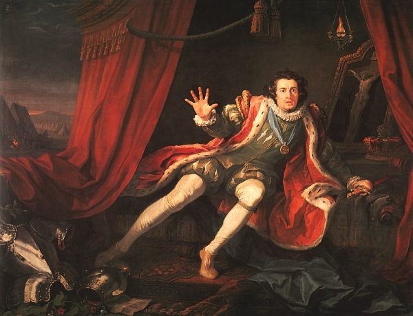 David Garrick as Richard III. Image via Wikipedia.